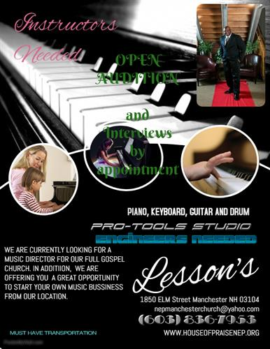 Music Lessons, Home School Music Lesson,  & Recording Studio,