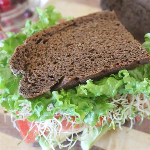 Victoria's Veggie Sandwich on Dark Rye