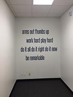 Daniel Stark cut vinyl wall graphic