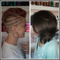 Two completely different styles by Mandy