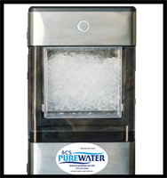 Nugget ice maker enhanced with premium BCS Pure Water!