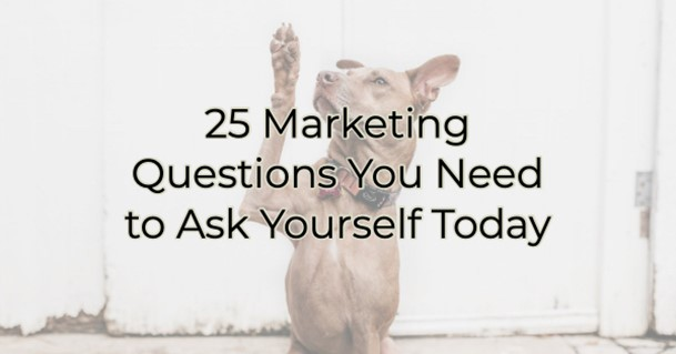 25 Marketing Questions You Need to Ask Yourself Today
