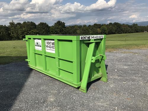 6 yard dumpster. Great from small job, or heavy dense material