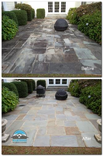 Stone Patio Pressure Washing
