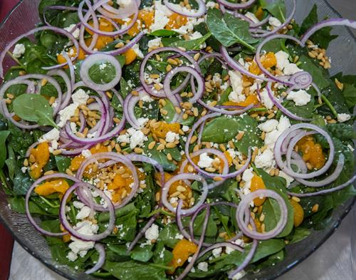 Salads made fresh on-site when you order catering.