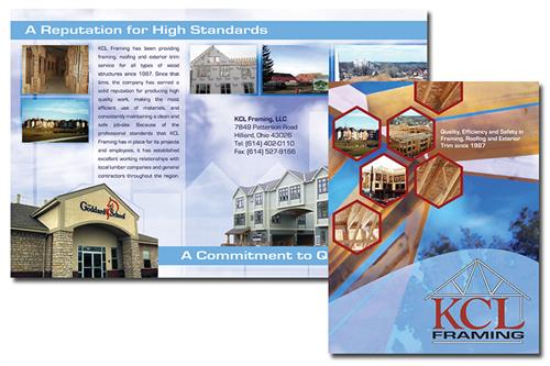 Sales brochure (bi-fold) for local company