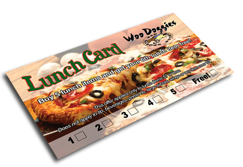 Lunch card for local bar & grill