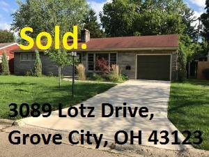 Ranch home in Grove City SOLD!