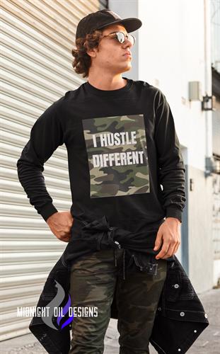 "Camo Hustle-Flage ""I Hustle Different"" Tee"
