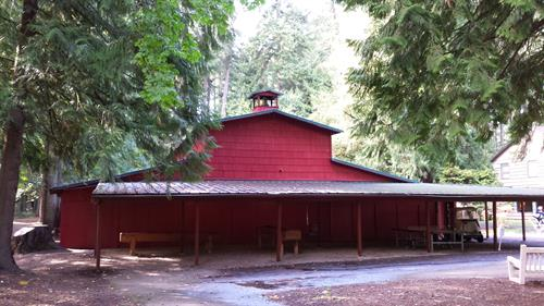 The Tozer Tabernacle - The original camp meeting building built in 1928.  Holds 600+