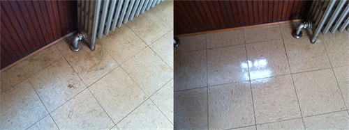 We offer stripping and waxing of flooring. Along with scrubs, recoats and buffing