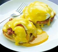 Deliscious Eggs Benedict Sunday Brunch.