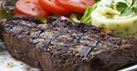 Melt in your mouth Steak, with a choice of starch, and a side salad.