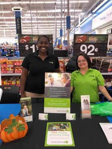 PCC Jaqueline and HCP Jasmine spend time out in the community at the WalMart Wellness Day.