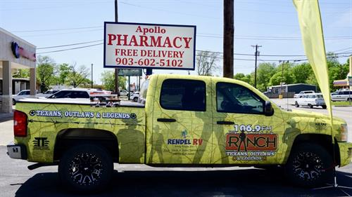 Apollo Pharmacy with 106.9 FM Ranch on the Road