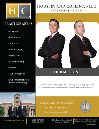 Housley and Collins' Flyer (English version)