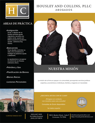 Housley and Collins' Flyer (Spanish version)