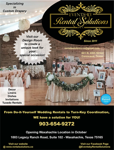 Events by Rental Solutions's Bridal Magazine Ad