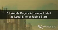 Five Woods Rogers Lynchburg Attorneys Named as ''Legal Elite''