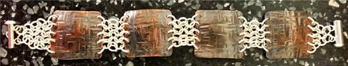"""Uptown"" - Copper and silver bracelet"