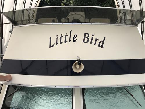 Boat name flying bridge