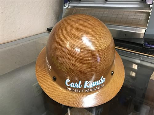Hard hat -personalized decals