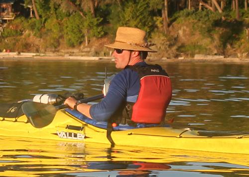 Kayaking near San Juan Island