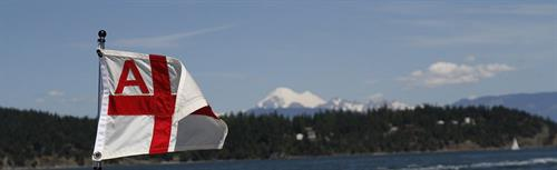 AYC Burgee and Mt Baker