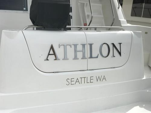 Fabricated Boat Name - Stainless Steel
