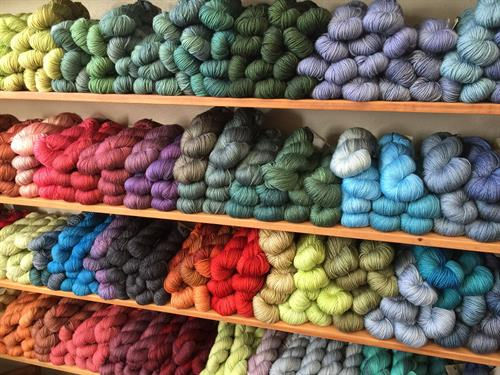 Walls of Hand-dyed Yarns