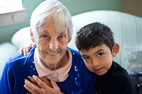 Grandma and child - every day event at San Juan Rehab
