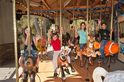 Take a spin on the beautiful Conservation Carousel, featuring hand-carved animals. $3 per ride.