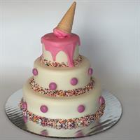 3-tier ice cream SmashCake
