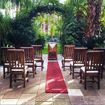 Small courtyard weddings and elopements available.