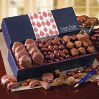 Wrapped Gift Boxes - this one has Pecan Turtles, Chocolate Almonds & Cocoa Dusted Truffles