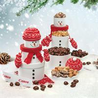 This Snowman Tower makes a great holiday centerpiece. Serves 6-8.