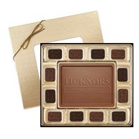 Your logo in chocolate - always a great holiday gift idea!