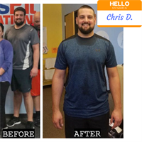 Chris has had a great transformation with CFE and he continues to work hard today!