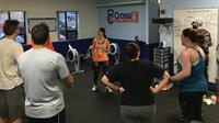 Coach Micahel pumping our members up to complete their WOD!