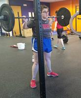 Lexi working on back squats.