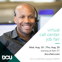 DCU Virtual Job Fair Aug 19th-20th