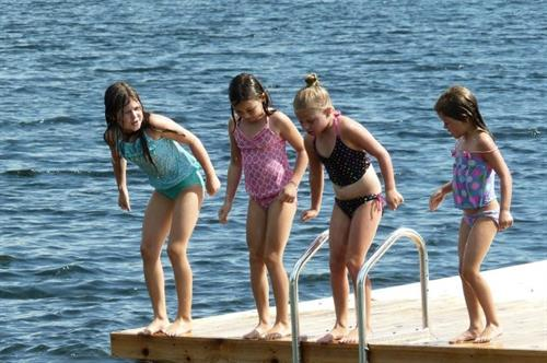 Swim dock for kids