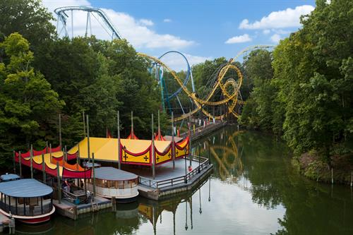 Rhine River Cruise, Alpengeist, Griffon and Loch Ness Monster at Busch Gardens Williamsburg