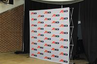 Trade show fabric pop up backdrop