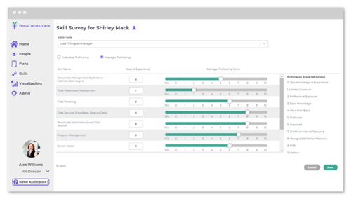 A modern survey engine to systematize the collection of skills data – so you can spend more time of what really matters.