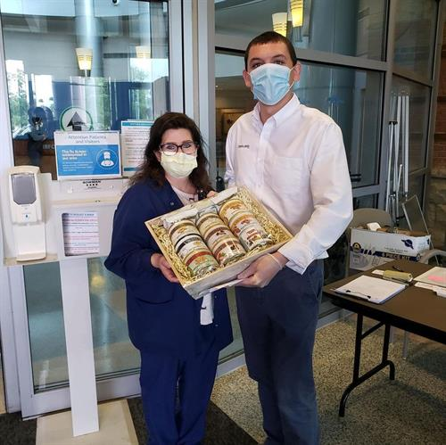 Virginia Diner donated 10 gift baskets to hospitals across the region on Nurses Day 2020 in May.