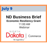ND Commerce Economic Resiliency Grant Business Briefing, hosted by GNDC