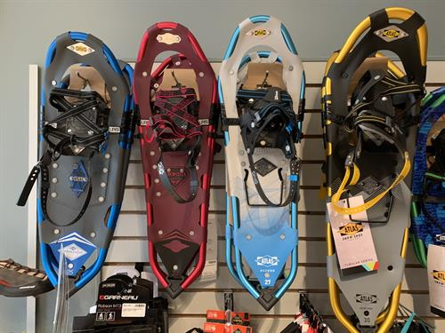 Atlas Snowshoes on sale for winter recreation.