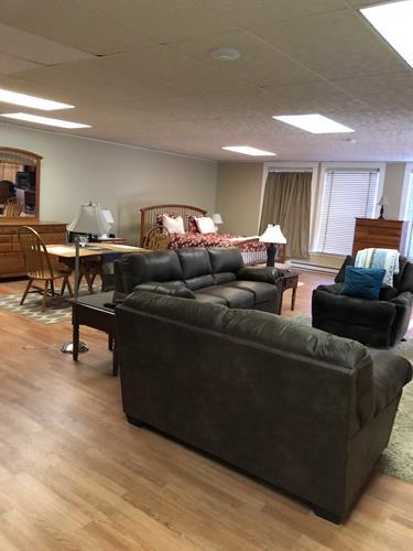 Murphy's Loft Airbnb living space