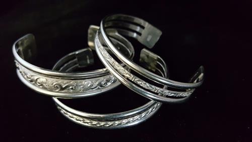Simple silver cuffs
